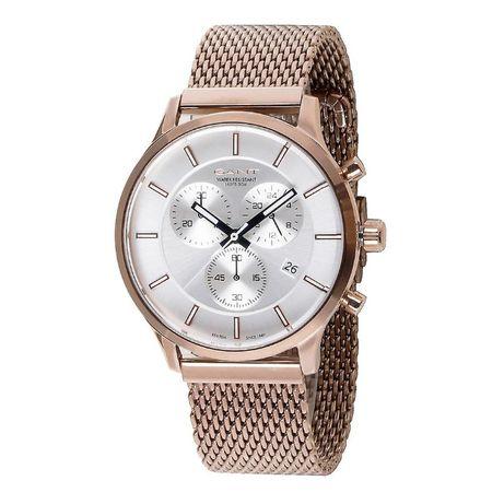 GANT chronograph ceas barbatesc,bratara zale,auriu, 44mm !