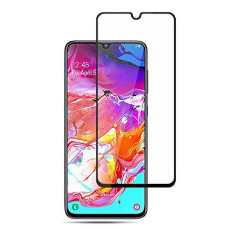 Стъклен протектор за Samsung Galaxy A70 A705F - (2019) FullGlue Черен