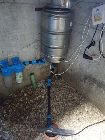 Bazin hidrofor inox din butoi de bere 50L