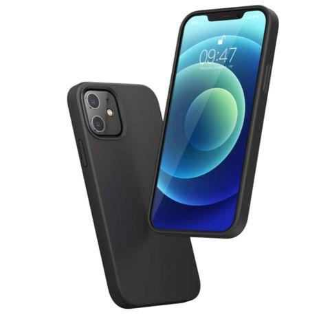 Черен силиконов калъф за iPhone 12/mini/11/Pro/Max/X/XR/XS/Max/8/Plus