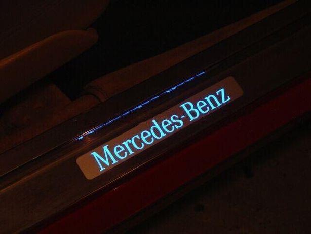 Заводские Светящиеся Пороги на Mercedes W124!