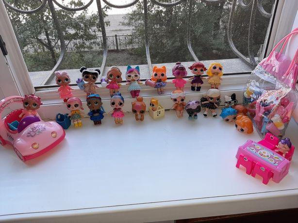 Куклы лол наборы  стол стул
