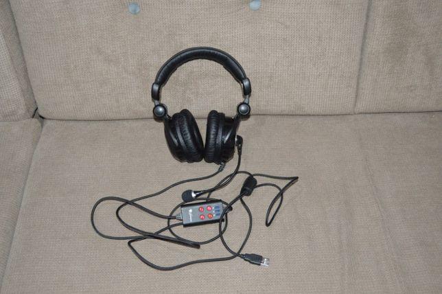 Casti Natec GENESIS HX77 5.1 Surround, USB vibratii