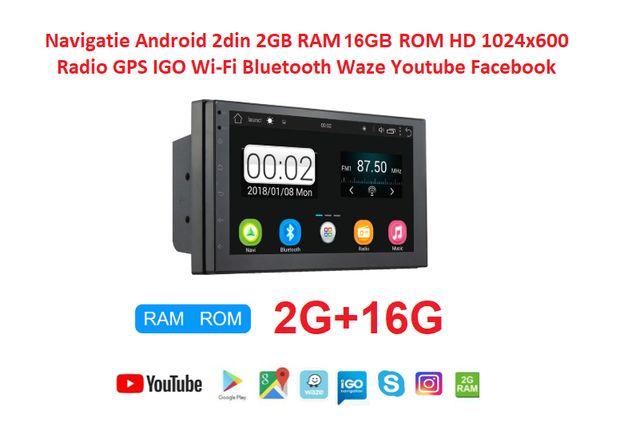 Navigatie 2DIN Android 9.1 2GB RAM, 16GB ROM , WiFi, 3G, GPS, RADIO