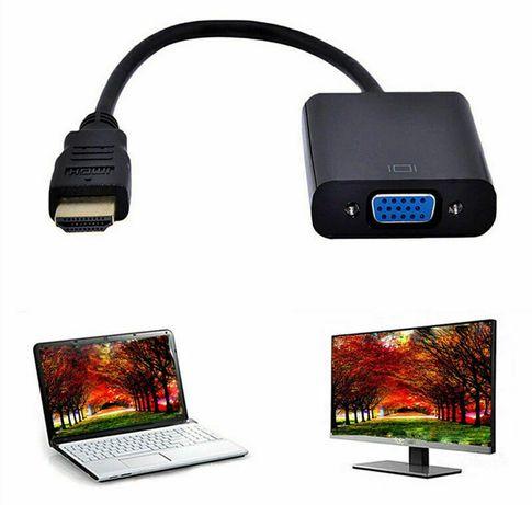 Преходник HDMI(м) към VGA (ж) 1080P конвектор кабел