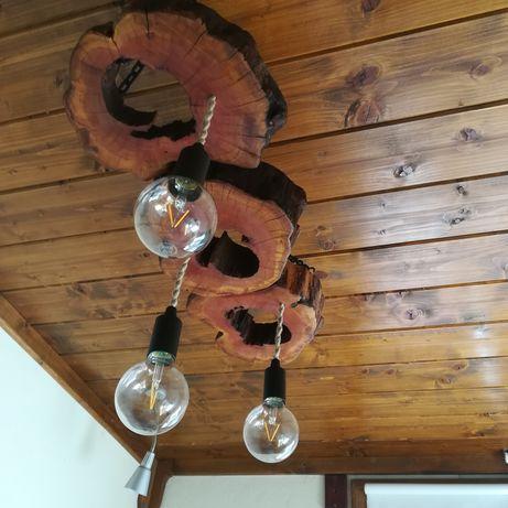 Изработвам полилеи от дърво и лампи стил: битов, арт, винтидж, рустик.