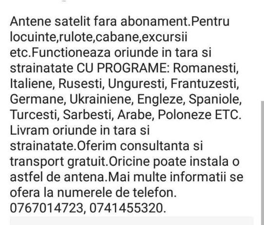 Antene satelit fără abonament cu programe Românești și Străine.