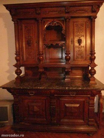 Vand mobila sculptata neobaroc, sufragerie completa