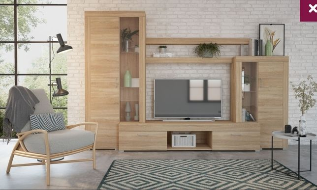 Biblioteca mobila living Bella - Casa Rusu - stejar bardolino, ca noua