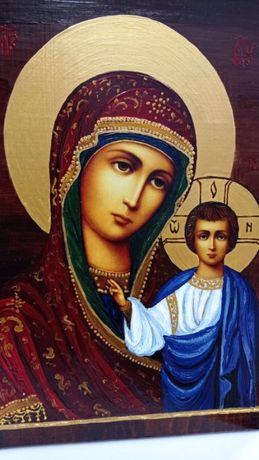 Икона на Св. Богородица Казанска - рисувана