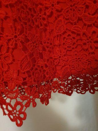 Rochie eleganta dantela roșie 5 ani