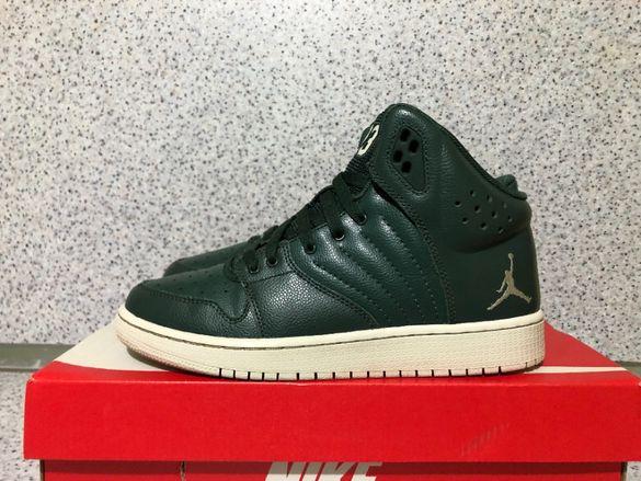 ОРИГИНАЛНИ *** Nike Air Jordan 1 Flight 4 Prem Leather BG / Olive
