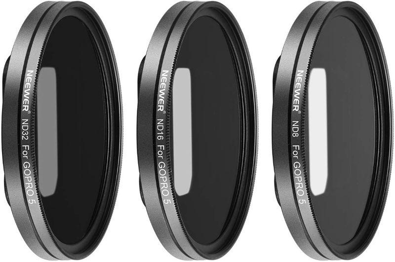 Neewer Комплект 3 филтъра ND8 ND16 ND32 + адаптер за GoPro Hero 5 6 7 с. Шуменци - image 1