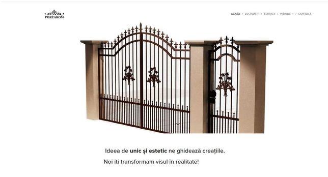 Website confectii metalice porti din fier forjat. Prezneta online.