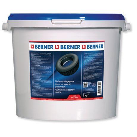 Монтажна паста за монтаж на гуми BERNER бяла 5кг.