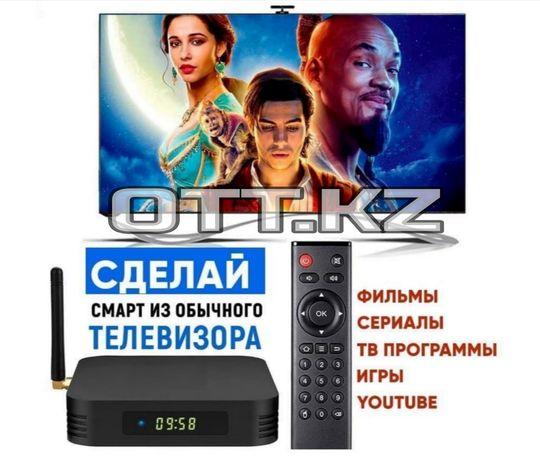 ТВ бокс Android приставка. Tv box превратит телевизор в Smart TV