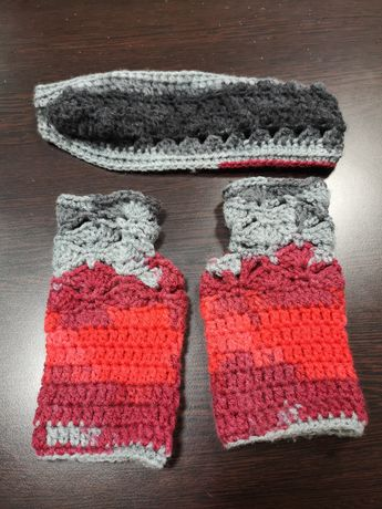 Зимен плетен комплект