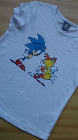 Ръчно рисувани тениски със Соник, Дъмбо, Мики Маус, пакостници