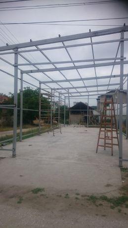 Изграждане на метални конструкции,навеси,гаражи,магазини и ковано жел.