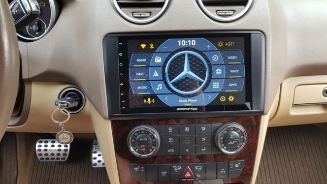 "Navigatie 9"" Mercedes ML GL W164 X164 Android 10 IPS 4GB/64GB WiFi 4G"