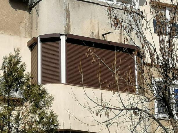 Inchidere balcon cu rulouri exterioare din aluminiu in 5 campuri !!
