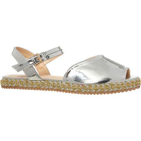 сребърни сандали на POLO