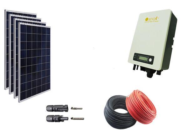 1кв соларна фотоволтаична система за мрежово свързване