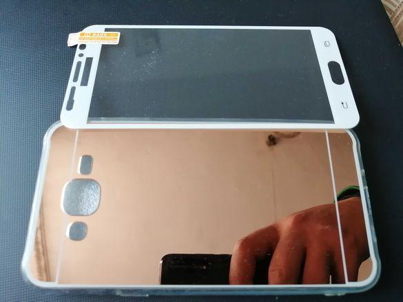 Огледален кейс + подарък стъклен протектор за Samsung Galaxy J7
