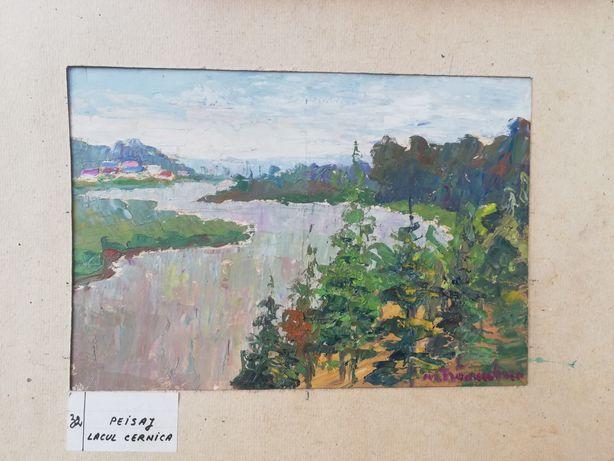 """ Lacul Cernica "", tablou minunat, peisaj, Maria Frânculescu, u/c"