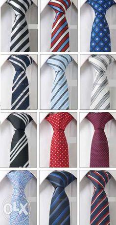 Cravate skinny / slim - matase Jacquard - noi - modele deosebite