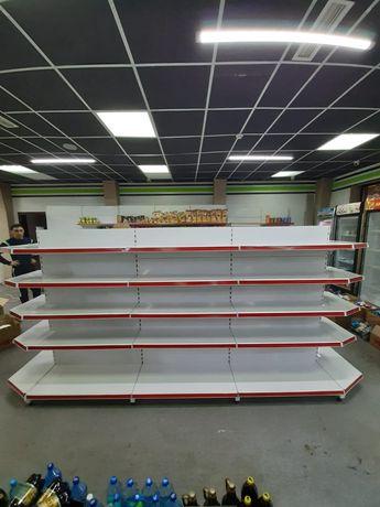 Полка металлические пристенные стеллажи прилавки витрины для магазинов