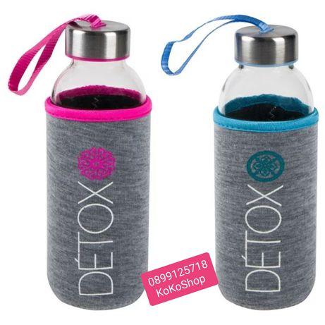 Бутилка за вода-400 мл./Спортна бутилка за вода/Стъклена бутилка