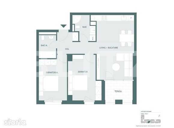 Apartament 3 camere, 67 mp utili, terasa