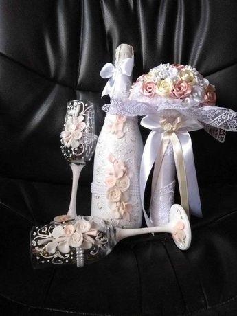 Ръчно изработени сватбени комплекти аксесоари и падаръци
