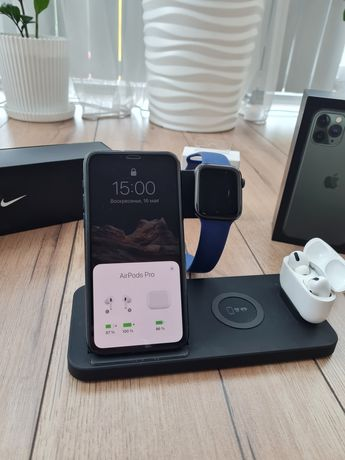 Продам Iphone 11 pro 256G airpods Pro,Watch 5 44 nike