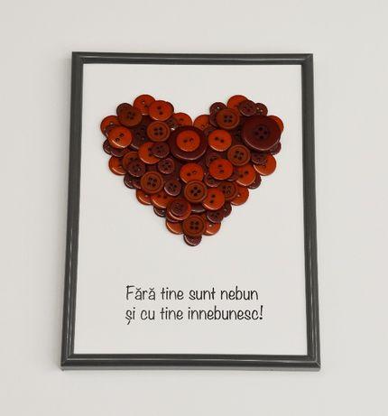 cadou pentru iubita, logodnica, sotie, tablou cu mesaj dragoste haios