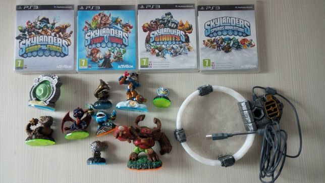 Skylanders Giants + Spyro's Adventure + Swap Force + Trap Team PS3