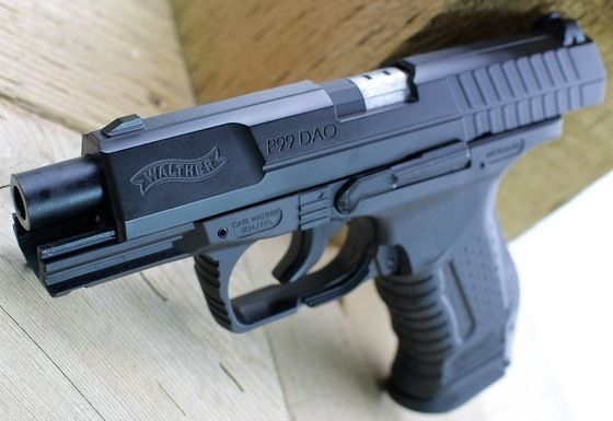 Pistol WALTHER DAO P99 CO2 4Joules +cutie transport BLACK