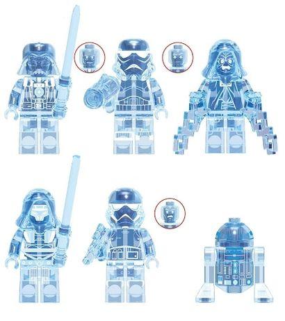 Set 6 Minifigurine tip Lego Star Wars cu Holograme: Vader, Palpatine