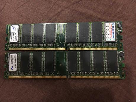 Оперативная память DDR1 512Mb 2шт