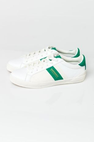 Superdry Vintage Court Trainers White Green