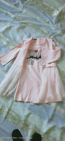 Платье детское с накидкой