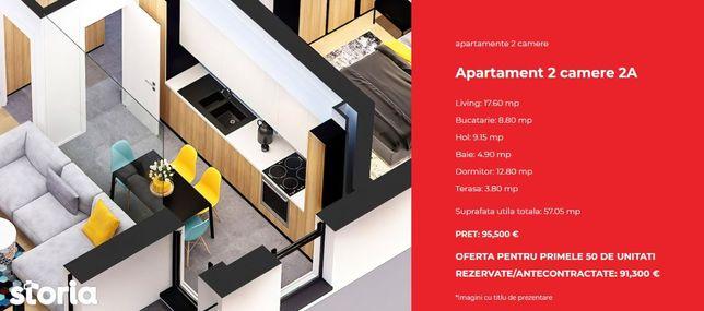 Apartament doua camere TIP 2A - Zen Politehnica Apartments