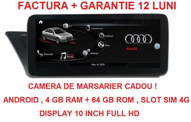 Navigatie Audi A4 A5 B8 , Concert MMI 3G , 4GB RAM , Slot Sim 4G Noua