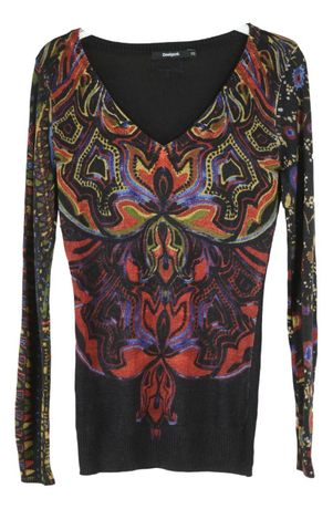 Bluza Dama Desigual marimea XS Multicolora Flori Casual BZ16