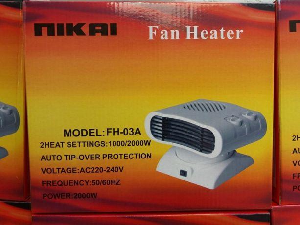 Обогреватели тепловентиляторы nikai новые в упаковке
