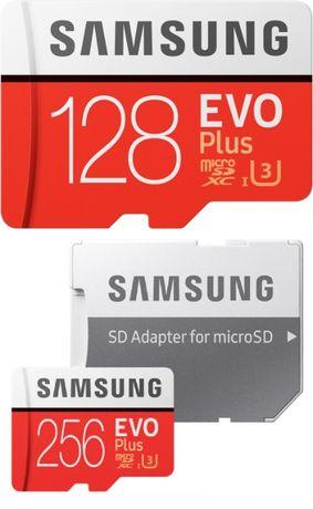 Micro SD Флеш карта Samsung Evo на 16Gb, 64Gb, 128Gb и 256Gb