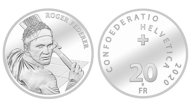 Moneda argint Roger Federer