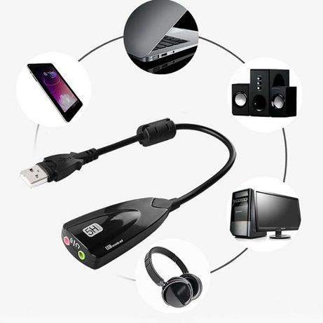 Placa de sunet / audio Virtual 7.1 externa 3D sound conectare pe USB