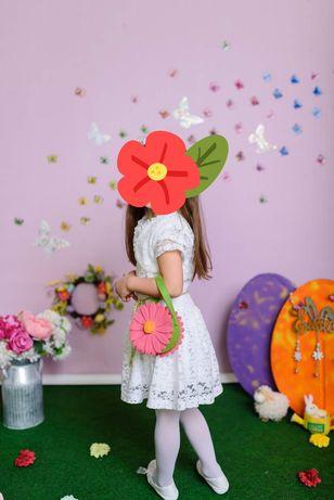 Детска бяла рокля